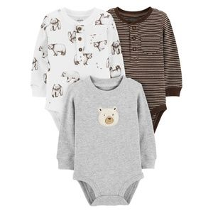 Carter's Boys Long Sleeve Thermal Bodysuits 3 pack